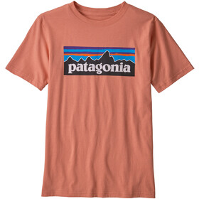 Patagonia P-6 Logo Organic T-Shirt Col Ras-Du-Cou Garçon, mellow melon